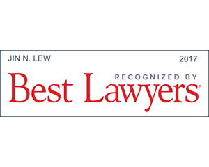 Best Lawyers 2017, Jin Lew
